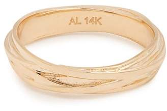 Alison Lou Yellow Gold Fettuccine Ring - Womens - Gold