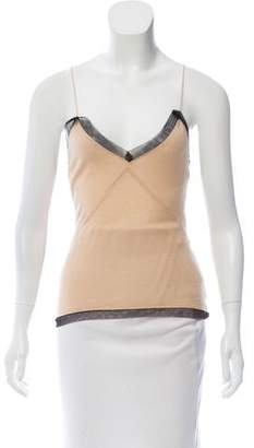 Alessandro Dell'Acqua Mesh Trimmed Wool Top w/ Tags
