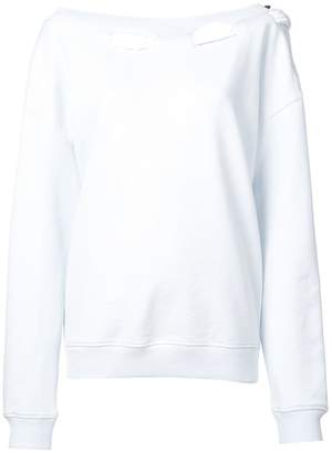 Y/Project Y / Project woven neck detail sweatshirt
