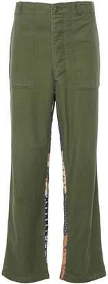 Atelier & Repairs 'Fun Strip Fatigue' contrast inseam unisex pants