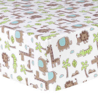 Trend Lab TREND LAB, LLC Sage Safari Flannel Crib Sheet