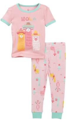 Petit Lem Hola Lama Pajama Set (Toddler \n& Little Girls)