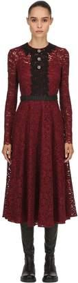 Antonio Marras Lace & Embroidery Midi Dress