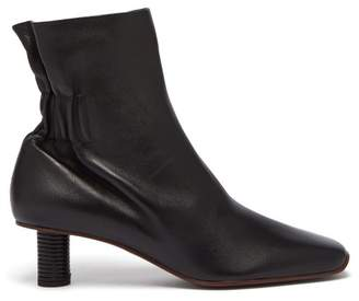 Proenza Schouler Ruched Back Leather Ankle Boots - Womens - Black