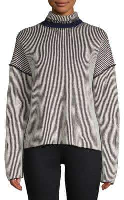 Theory Oversized Striped Cashmere Sweater