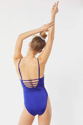 Out From Under Plunging One-Piece Swimsuit