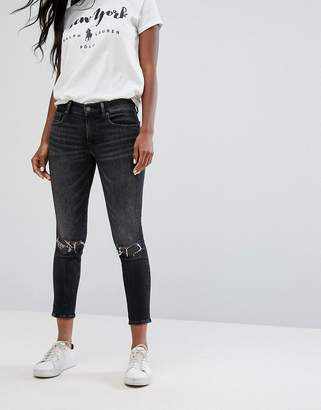 Polo Ralph Lauren Mid Rise Cropped Skinny Jeans