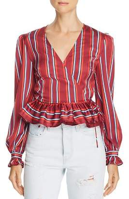 The Fifth Label Striped Wrap Top