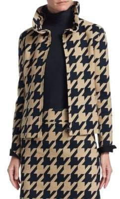 Akris Punto Houndstooth Jacquard Cropped Jacket