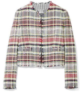 Thom Browne Frayed Cotton-blend Tweed Jacket - Red