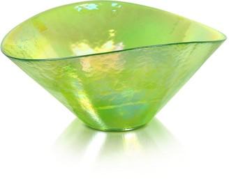Murano Yalos Tango - Green Swirl Glass Bowl