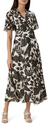 Hobbs London Maria Leaf-Print Wrap Dress - 100% Exclusive
