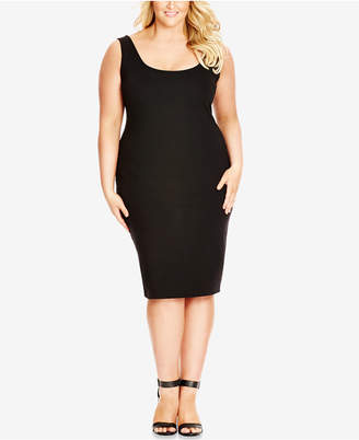City Chic Plus Size Sleeveless Bodycon Dress $69 thestylecure.com
