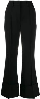 Stella McCartney flared turn-up trousers