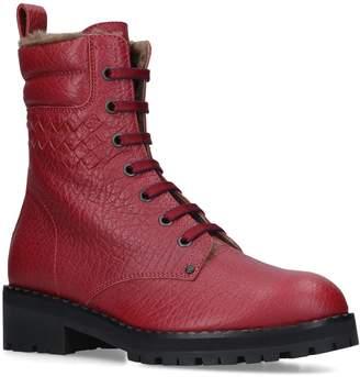 Bottega Veneta Leather Eldfell Military Boots