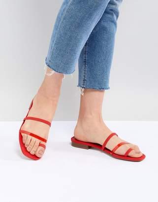 Bershka clean multi strap flat sandals