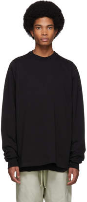 Rick Owens Black Short Crewneck Sweater