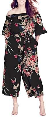 City Chic Misty Floral Jumpsuit