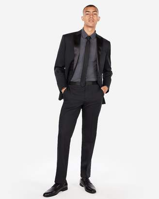 Express Classic Black Satin Accent Cotton Sateen Tuxedo Pant