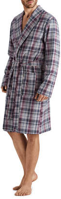 Hanro Men's Thilo Plaid Cotton Robe