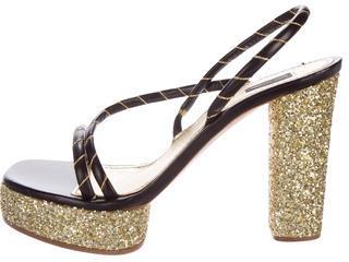 Marc JacobsMarc Jacobs Glitter Slingback Sandals
