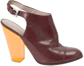 Marc Jacobs Burgundy Leather Heels