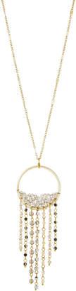 Panacea Circle Fringe Crystal Pendant Necklace