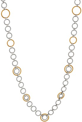 "Alor Cable Stainless Steel 36"" Circle Link Necklace"