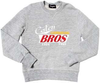 DSQUARED2 Caten Bros Printed Cotton Sweatshirt