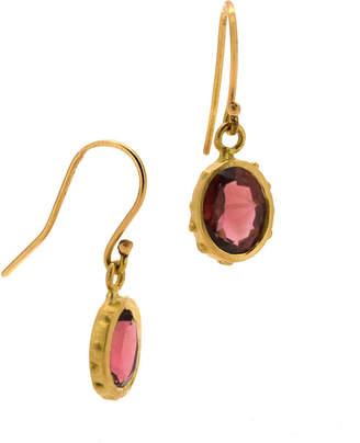 Lori Kaplan Jewelry 18K Gold & Tourmaline Earrings