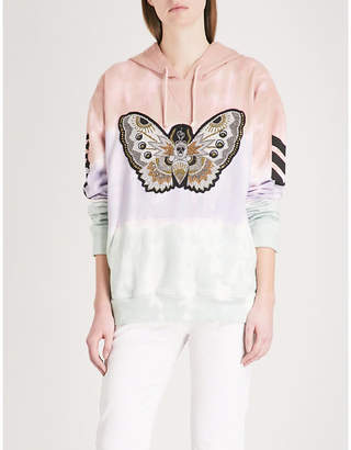 Zadig & Voltaire Butterfly-motif cotton-jersey hoody