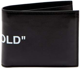 Off-White Quote bi-fold leather wallet