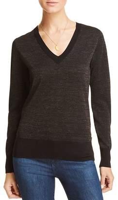 Scotch & Soda Metallic V-Neck Sweater