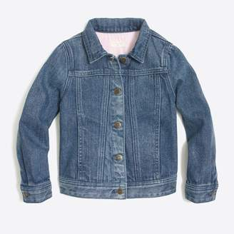 J.Crew Factory Girls' denim jacket in dylan wash