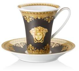 Versace By Rosenthal I Love Baroque Nero Coffee Cup & Saucer