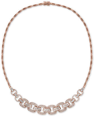 """Effy Diamond Link 15"""" Collar Necklace (2-1/10 ct. t.w.) in 14k Rose Gold"""