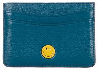 Anya Hindmarch Smiley Leather Card Holder w/ Tags