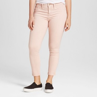 Mossimo Women's Jeans Curvy Jegging Crop Pink - Mossimo $29.99 thestylecure.com