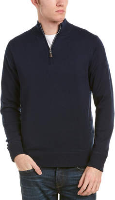 Peter Millar Crown Soft Maxwell Lined 1/4-Zip Merino Wool & Silk-Blend Sweater