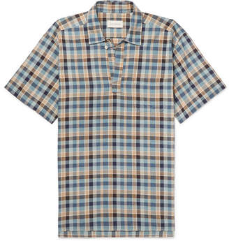 Oliver Spencer Yarmouth Checked Cotton Half-Placket Shirt
