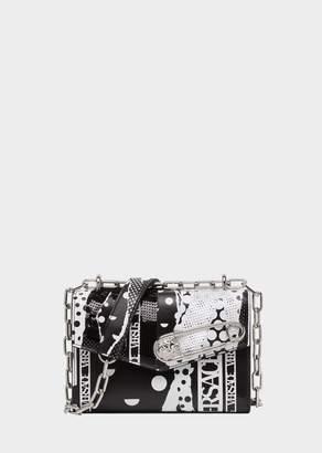 Versace Torn Polka Dot Print Safety Pin Shoulder Bag
