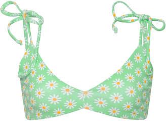 Camp Cove Poppy Floral Print Bikini Top