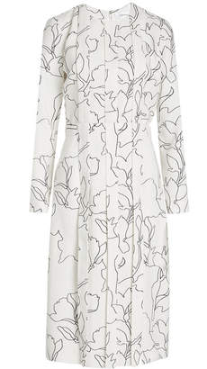 Carven Pleated Dress with Print