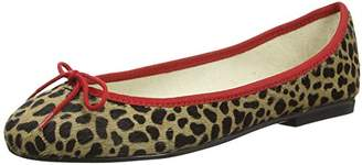 45c29f6224354 French Sole Women's Inida Leopard Pt112 Ballet Flats, Beige