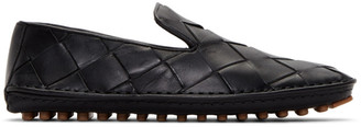 Bottega Veneta Black Intrecciato Douglas Loafers
