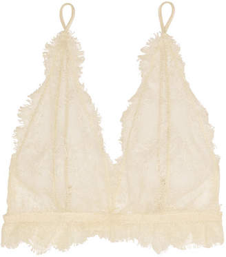 Lace Soft-cup Bra - Off-white