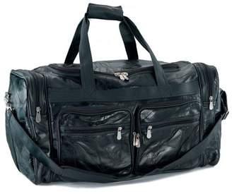 "Buffalo David Bitton Embassy Italian Stone Design Genuine Leather 24"" Tote Bag"