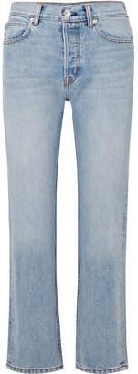 Helmut Lang Cropped High-rise Straight-leg Jeans - Light denim