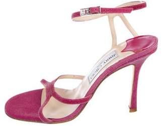 Jimmy Choo Glitter Ankle-Strap Sandals
