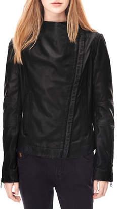 Liebeskind Berlin Collarless Leather Jacket